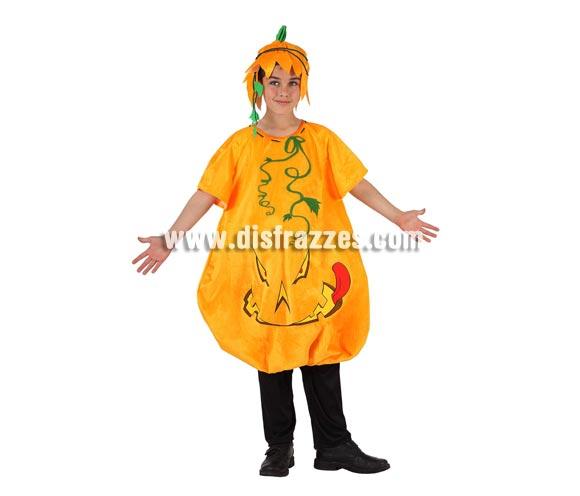 Disfraz de Calabaza para niño. Talla de 5 a 6 años. Incluye disfraz y gorro. Perfecto y original para el día de Halloween.