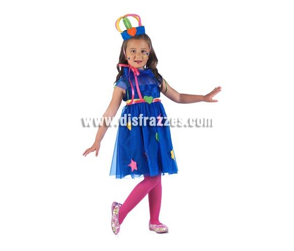 Disfraz de Princesa Parchís Deluxe para niña. Alta calidad, hecho en España. Disponible en varias tallas. Incluye vestido, gola y corona.