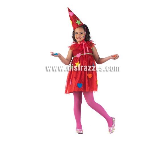 Disfraz de Hada Parchís Deluxe para niña. Alta calidad, hecho en España. Disponible en varias tallas. Incluye vestido, gola y sombrero.