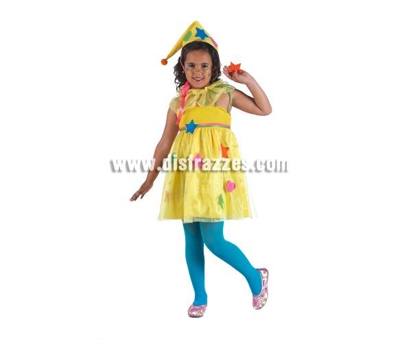 Disfraz de Ninfa Parchís Deluxe para niña. Alta calidad, hecho en España. Disponible en varias tallas. Incluye vestido, gola y gorro. Estrella de la mano No incluida.