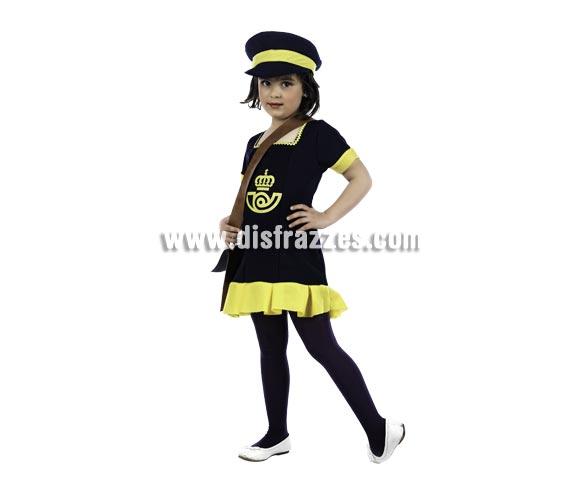 Disfraz de Cartera Deluxe para niña. Alta calidad, hecho en España. Disponible en varias tallas. Incluye vestido, gorra y cartera.