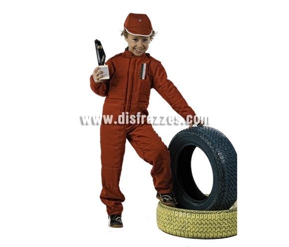 Disfraz de Piloto Formula 1 Deluxe para niño. Alta calidad, hecho en España. Disponible en varias tallas. Incluye mono y gorro. Trofeo NO incluido.