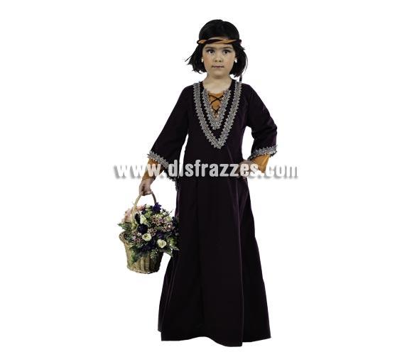 Disfraz de Lady Marian Medieval Deluxe para niña. Alta calidad, hecho en España. Disponible en varias tallas. Incluye vestido y cinta de la cabeza. Cesta No incluida.