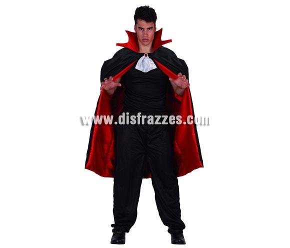 Capa de Vampiro para adulto. Talla única. Incluye sólo la capa con pequeña pechera.