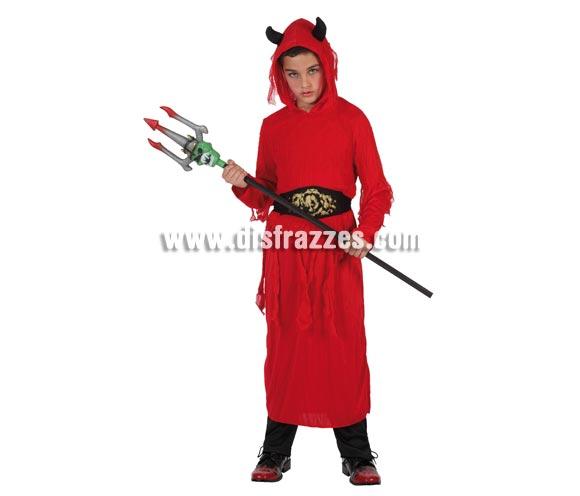 Disfraz de Diablo Malvado para niños. Talla de 7 a 9 años. Tridente NO incluido, podrás verlo en la sección de Complementos. Disfraz de Demonio Malvado en talla de niño para Halloween.