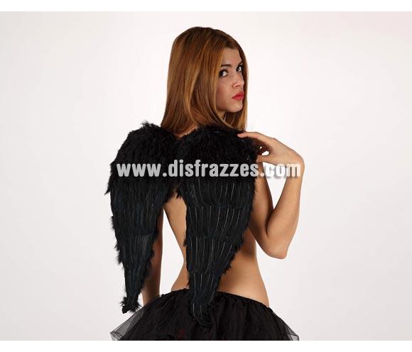 Alas de Ángel con plumas negras de 58x52 cm. para Halloween o para Despedidas de Soltera.