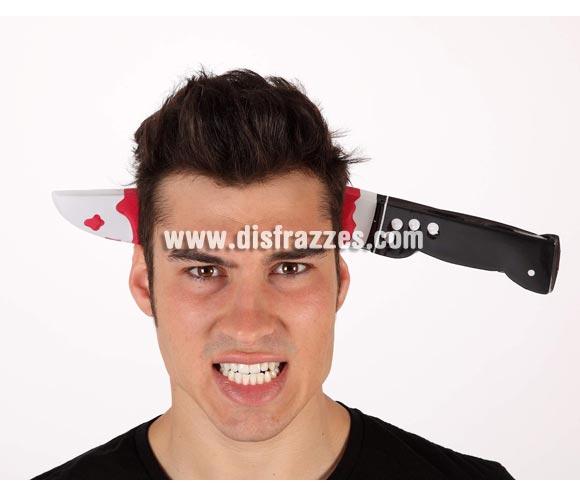 Diadema cuchillo ensangrentado para Halloween