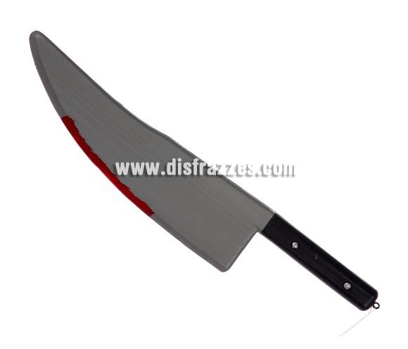 Cuchillo de Carnicero con sangre para Halloween.