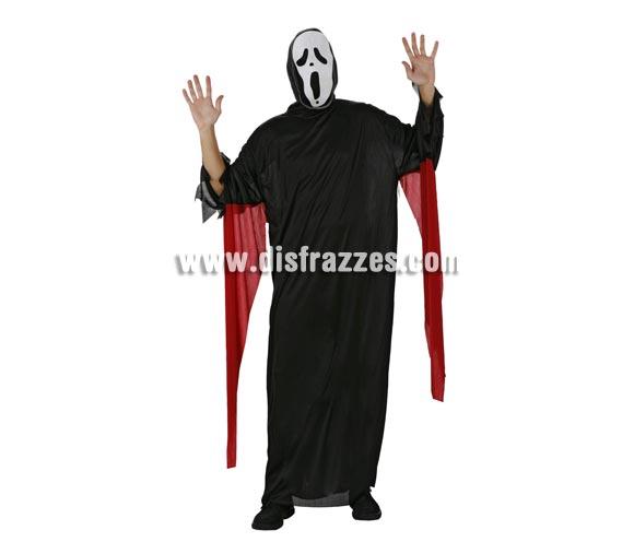 Disfraz de Fantasma adulto para Halloween. Talla M-L = 52/54. Incluye disfraz y mascara. Disfraz de Scream adulto para Halloween.