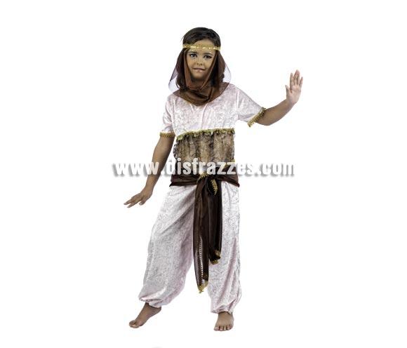 Disfraz de Princesa de Oriente Deluxe para niña. Alta calidad, hecho en España. Disponible en varias tallas. Incluye mono y cinta con velo.