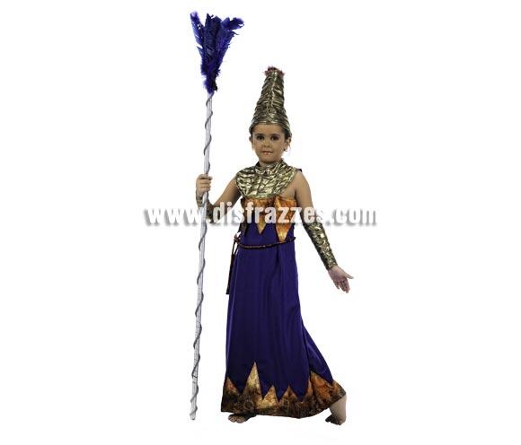 Disfraz de Princesa de Africa Deluxe para niña. Alta calidad, hecho en Epaña. Disponible en varias tallas. Incluye vestido, puños y gorro. Plumero NO incluido.