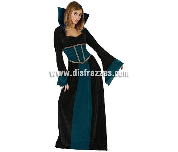 Disfraz de Reina Vampiresa para mujer. Talla standar M-L = 38/42. Incluye vestido completo.