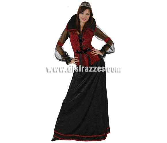 Disfraz de Condesa de las Tinieblas para mujer. Talla standar M-L = 38/42. Incluye traje completo. Éste disfraz también podría valer como disfraz de Princesa o Doncella Medieval.