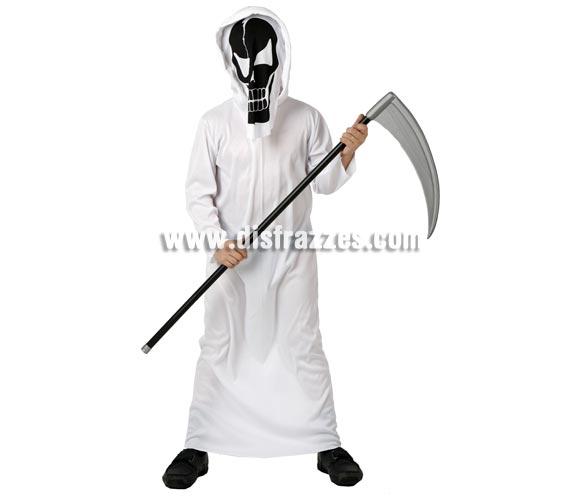 Disfraz de Esqueleto de la Muerte para niño. Talla de 5 a 6 años. Incluye disfraz y mascara. Guadaña NO incluida, podrás verla en la sección de Complementos.