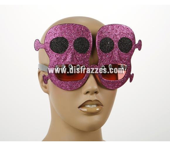 Gafas Calaveras con purpurina para Halloween.