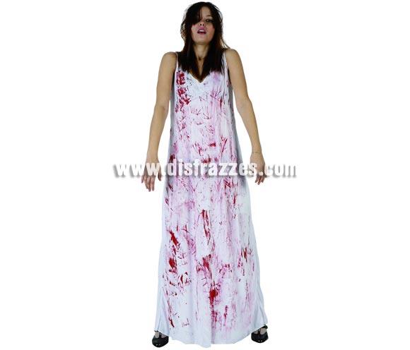 Disfraz de Niña del Exorcista sangrienta para mujer. Talla Standar M-L 38/42.  Incluye vestido.