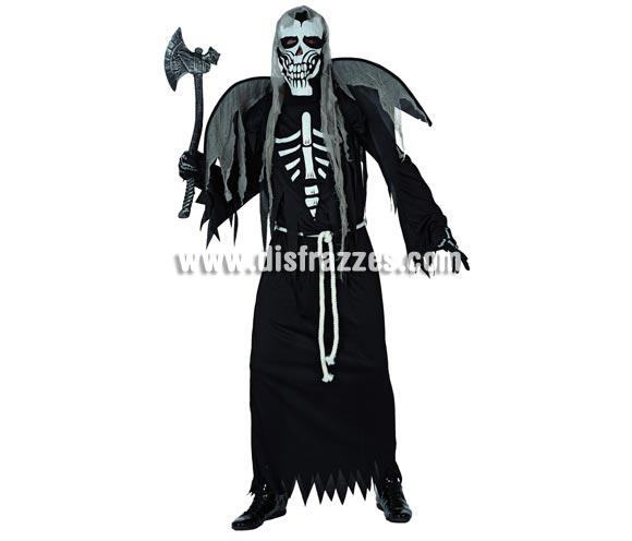 Disfraz de Esqueleto Zombie alado para hombre. Talla standar 52/54. Hacha NO incluida, podrás ver hachas en la sección de Complementos.