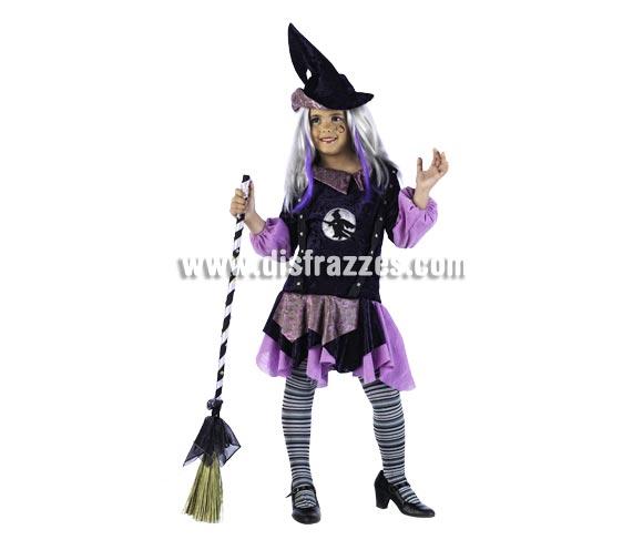 Disfraz de Teen-Vamps Alice Deluxe para niña. Alta calidad, hecho en España. Disponible en varias tallas. Incluye vestido y sombrero. Escoba NO incluida, podrás encontrar en nuestra sección de Complementos.