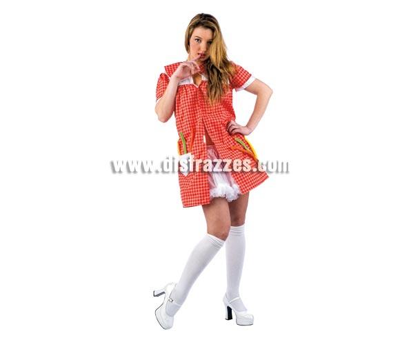 Disfraz de Profesora Sexy Deluxe para mujer. Alta calidad, hecho en España. Disponible en varias tallas. Incluye vestido. Tu-tu y medias NO incluidas, podrás encontrar en la sección de Complementos.