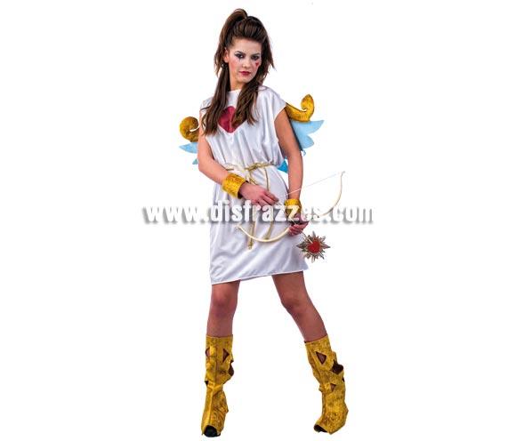 Disfraz de Cupido Deluxe para mujer. Alta  calidad, hecho en España. Disponible en varias tallas. Incluye vestido con alas, botas y muñequeras. Arco NO incluido, podrás encontrar en nuestra sección de Complementos.