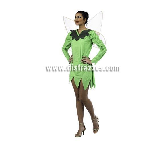 Disfraz de Ninfa del Bosque Deluxe para mujer. Alta calidad, hecho en España. Disponible en varias tallas. Incluye vestido y alas.