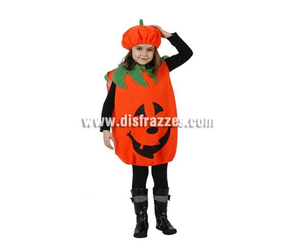 Disfraz de Calabaza para niños. Talla de 3 a 4 años. Incluye camisón y gorro. Éste disfraz sirve tanto para niñas como para niños.