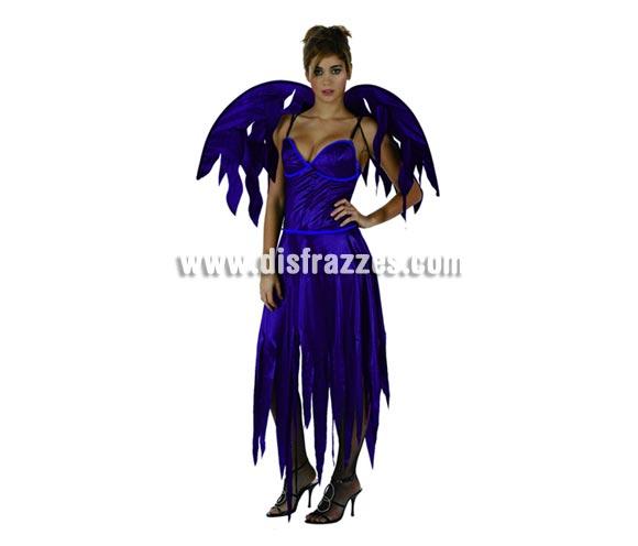 Disfraz barato de Demonia Gótica Sexy para mujer. Talla 2 ó talla standar M-L = 38/42. Incluye vestido y alas.