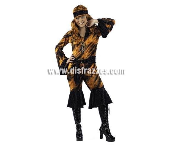 Disfraz de Neohippy Deluxe para mujer. Alta calidad, hecho en España. Disponible en varias tallas. Incluye mono, cinturón y pañuelo. Colgante NO incluido, podrás encontrar en nuestra sección de Complementos.