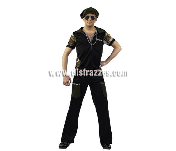 Disfraz de Guerrillero Deluxe para hombre. Alta calidad, hecho en España- Disponible en varias tallas. Incluye camisa, pantalón y gorro. Gafas y colgante No incluidos, podrás encontrar en nuestra sección de Complementos.