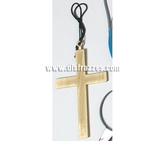 Cruz de plástico de 22 cm. Ideal para el disfraz de Cura o Monja.