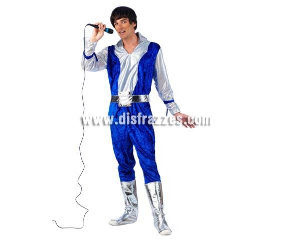 Disfraz de Musical Bill Deluxe para hombre. Alta calidad, hecho en España. Disponible en varias tallas. Incluye camisa, pantalón y botas. Peluca y micrófono NO incluido, podrás encontrar pelucas en nuestra sección de Complementos.
