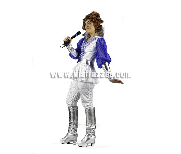 Disfraz de Musical Donna Deluxe para mujer. Alta calidad, hecho en España. Disponible en varias tallas. Incluye camisa, pantalón y botas. Peluca y micrófono NO incluidos, podrás encontrar pelucas en nuestra sección de Complementos.