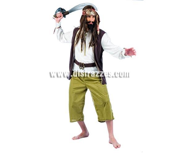 Disfraz barato de Pirata Saqueador Deluxe para hombre