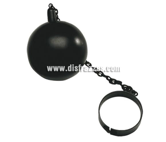 Bola de Preso de 15 cm de diámetro. Perfecta como complemento de tu disfraz de Presidiario o Presidiaria y para Halloween.