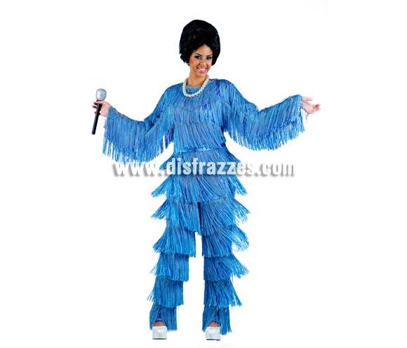 Disfraz de Salome Deluxe para mujer. Alta calidad, hecho en España. Disponible en varias tallas. Incluye mono. Peluca, collar y micrófono NO incluidos, podrás encontrar en nuestra sección de Complementos.