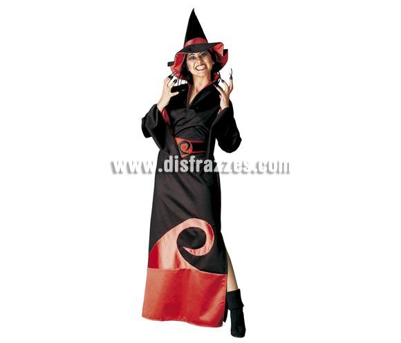 Disfraz de Bruja Roja para mujer. Talla única de mujer. Incluye vestido, cinturón y gorro.