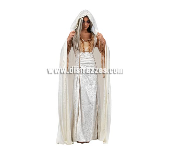 Capa Blanca Deluxe para adultos. Ideal como Complementos de tu disfraz.