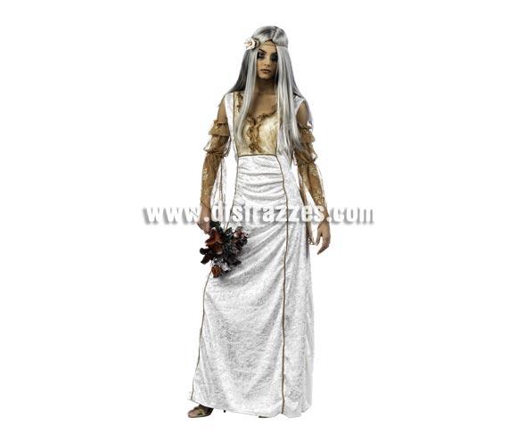 Disfraz de Neogótica Novia de Drácula Deluxe para mujer. Alta calidad, hecho en España. Disponible en varias tallas. Incluye vestido y cinta de la cabeza. Peluca y ramo NO incluidos, podrás encontrar en nuestra sección de Complementos.