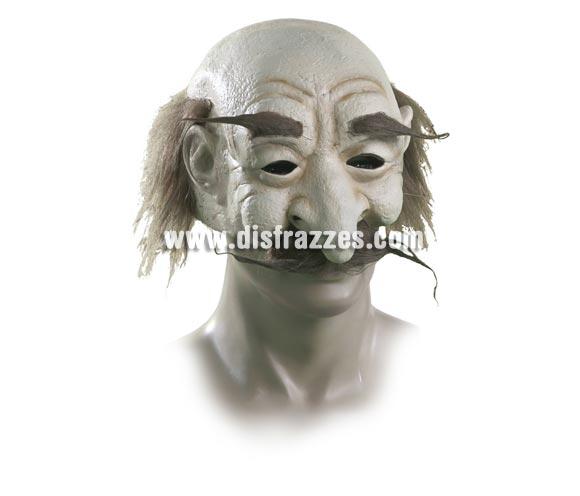 Máscara de Abuelo castaño con pelo.