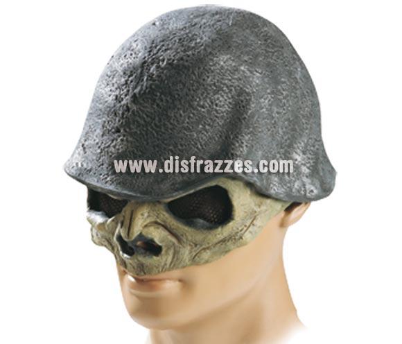 Máscara Casco Calavera de látex para Halloween.