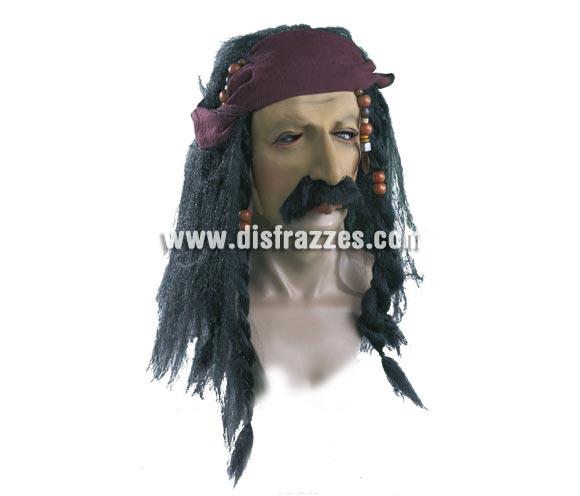 Máscara de Pirata con pelo para Halloween.