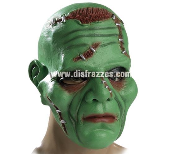 Máscara de Franki de látex para Halloween. Máscara de Frankenstein.