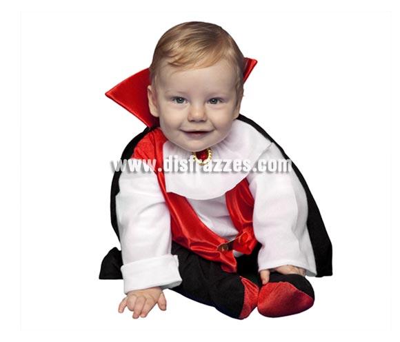 Disfraz de Drácula bebés de 6 a 12 meses para Halloween. Incluye disfraz completo.