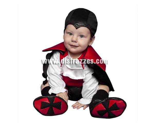 Disfraz de Vampiro para bebés de 6 a 12 meses en Halloween.