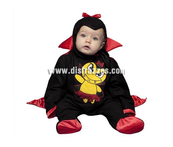Disfraz de Vampiresa o Vampira bebé de 6 a 12 meses para Halloween.