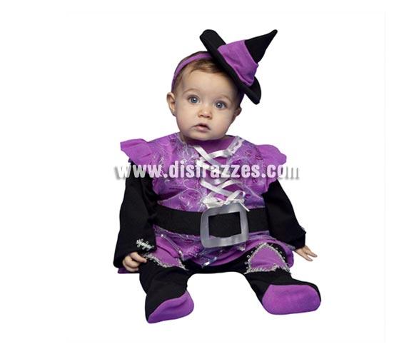 Disfraz de Brujita bebés de 6 a 12 meses para Halloween. Incluye disfraz completo.