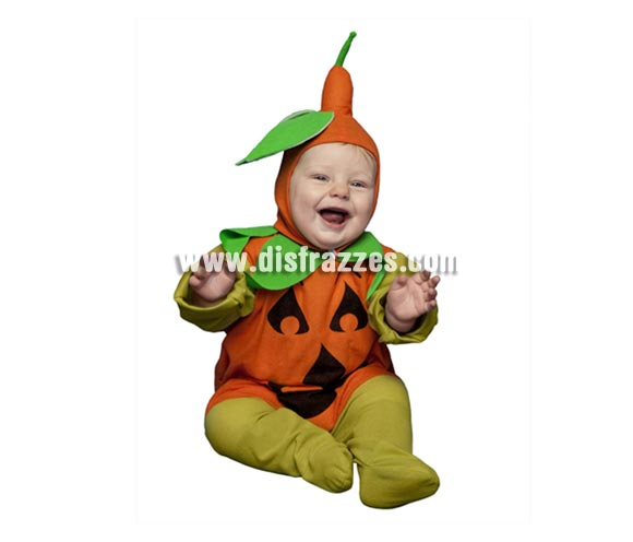Disfraz de Calabaza bebé de 6 a 12 meses para Halloween.