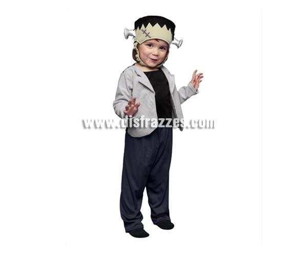 Disfraz de pequeño Frankenstein para Halloween. Talla de 3 a 4 años.