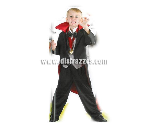 Disfraz barato de Vampiro para niños en Halloween. Talla de 5 a 6 años.