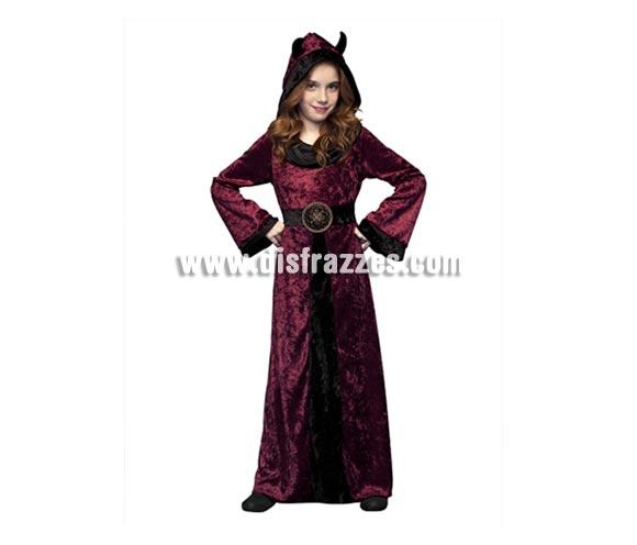 Disfraz de la Muerte morado para niñas de 5 a 6 años, perfecto para Halloween